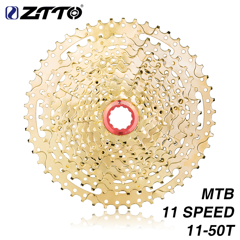 цена на ZTTO MTB 11Speed GOLD Cassette 11s 11 -50t Wide Ratio UltraLight Golden Freewheel Mountain Bike Bicycle Parts for gx XX1 m8000