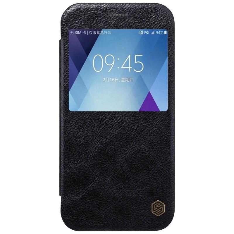 Цена за A3 A5 Новое поступление 2017 года! Nillkin Высокое качество кожаный чехол для Samsung Galaxy A3 A5 2017 A320F A520F