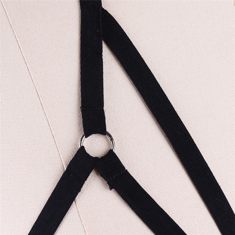 Underwear Women 39 s Harness Bra Stocking Belt Goth Body Cage Bra Harness Fetish Chest Lingerie Gothic Bondage Garter Suspenders in Garters from Underwear amp Sleepwears