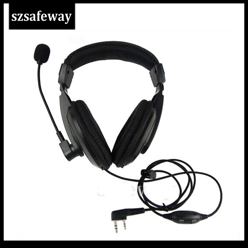 Walkie Talkie Headset With Vox PPT Switch For Kenwood Two Way Radio TK-3201, TK-3202, TK-3206, TK-3207 And Baofeng Wouxun