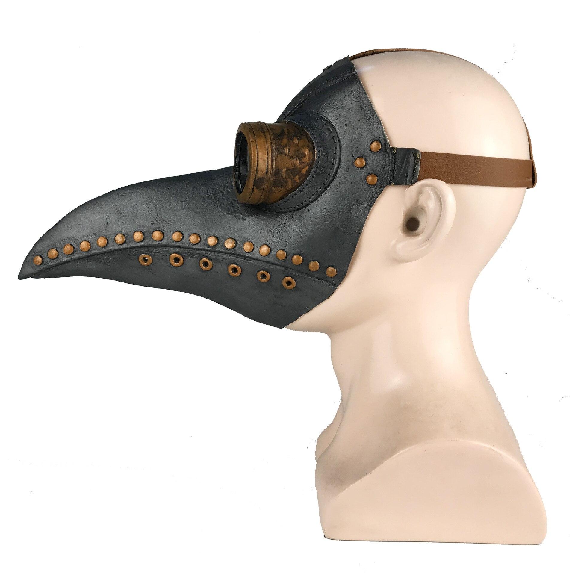หน้ากากกาฬโรค ยุคกลาง ความตายสีดำ หน้ากากคอสเพย์ผู้ใหญ่ Steampunk Plague Doctor Bird