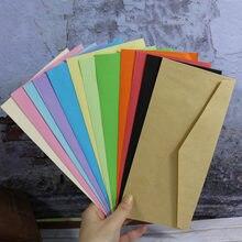 12pçs envelopes de papel de envelopes, bolsa de papel em branco com 12 cores, cartão de visita, presente, convite, casamento, envelope, cartão envelope, 22x10.5cm