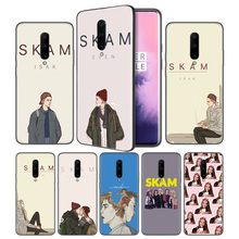 SKAM Soft Black Silicone Case Cover for OnePlus 6 6T 7 Pro 5G Ultra-thin TPU Phone Back Protective
