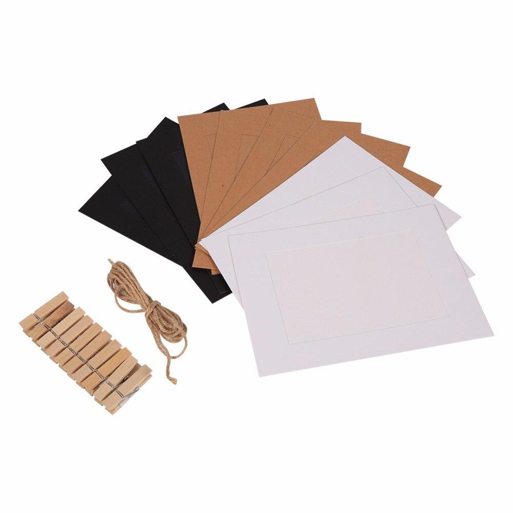 10 Teile/satz Papier Rahmen Geschenk DIY Wandbehang Papier ...