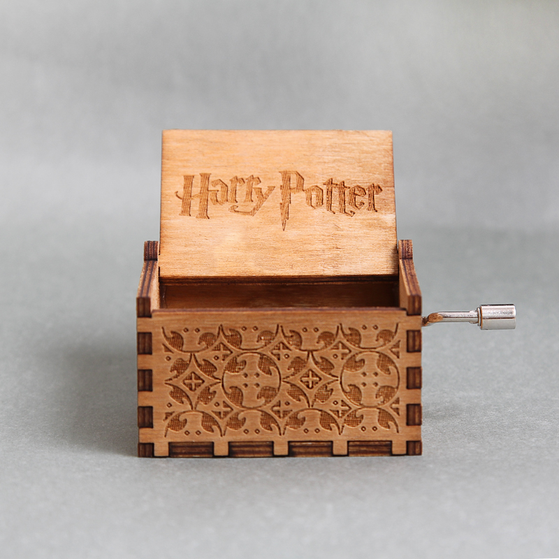Harry Potter Custom Music Box Wooden Harry Potter Quote Hedwigs Theme Musical Gift star war caja musical Christmas Daughter Gift