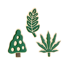 Cartoon Plant enamel pin Coconut Tree Cactus Monstera Brooch Button Pin Denim Clothes Badge Fashion hot summer Jewelry