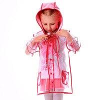 Yuding прозрачный плащ прозрачный Пластик плащи на открытом воздухе Touring для маленьких мальчиков платье для малышей, девочек дождевик с капюшо...