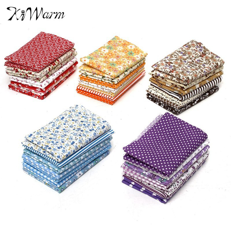 On sale 7pcs set multicolor quilting fabric cotton cloth for Sewing fabric for sale