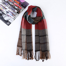 Oversized Tartan Scarf Men Women Warm Plaid Winter Cotton Fashionable Luxury Quality Ladies Scarves Grey Scarves Plaid 2017