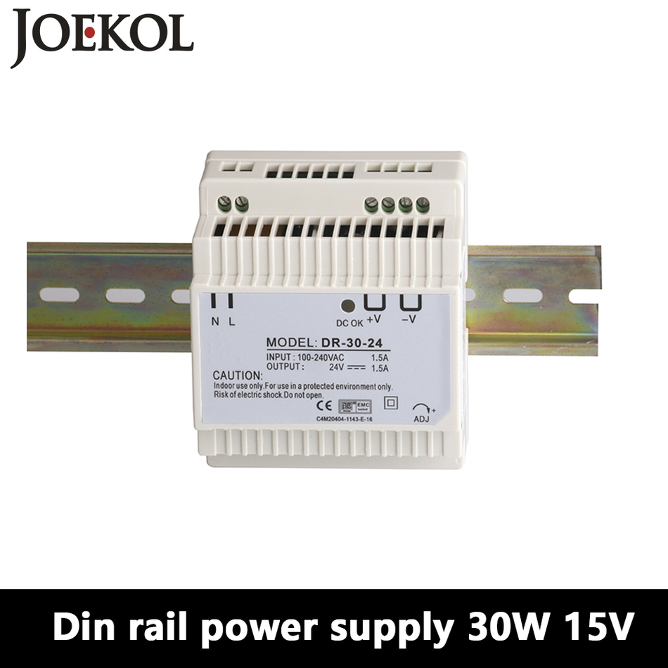 Switching Power Supply Kind-Hearted Dr-30 Din Rail Power Supply 30w 15v 2a,switching Power Supply Ac 110v/220v Transformer To Dc 15v,watt Power Supply To Win A High Admiration