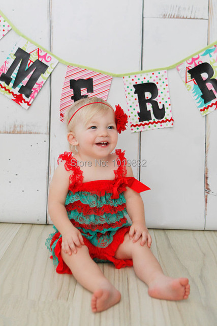 b3d0a30774d0 Red and Green Petti Romper - Lace Romper - Toddler Romper - Photo Prop -  Christmas