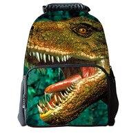 Cool Dinosaur pattern Animals World Schoolbag Jurassic Dinosaur Kids Backpack Children Gift For Boys/Child Travel BookBag