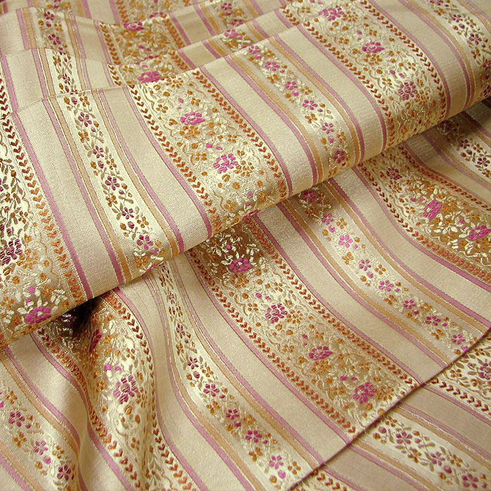 Classic striped brocade cloth  silk fabrics  cos national costume Hanfu kimono doll dress C