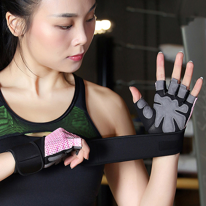 New Women/Men Training Gym Gloves Body Building Sport Fitness Gloves Exercise Weight Lifting Gloves Men Gloves Women queshark men women gym gloves body building half finger fitness gloves an slip sports weight lifting gloves
