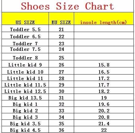 us to aus shoe size kids