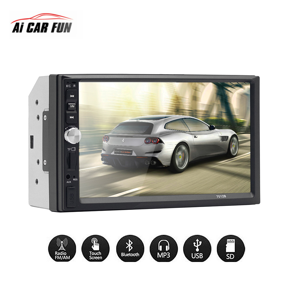 7 Inch Touch Screen DC 12V 2 Din FM radio HD Bluetooth MP3 MP5 Car Dual Ingot Multimedia Player Support Steering Wheel Control autoradio 7 inch 2 din bluetooth lcd hd touch screen car fm mp3 mp5 multimedia video radio player with wireless remote control