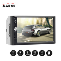 7 Inch Touch Screen DC 12V 2 Din FM radio HD Bluetooth MP3 MP5 Car Dual Ingot Multimedia Player Support Steering Wheel Control