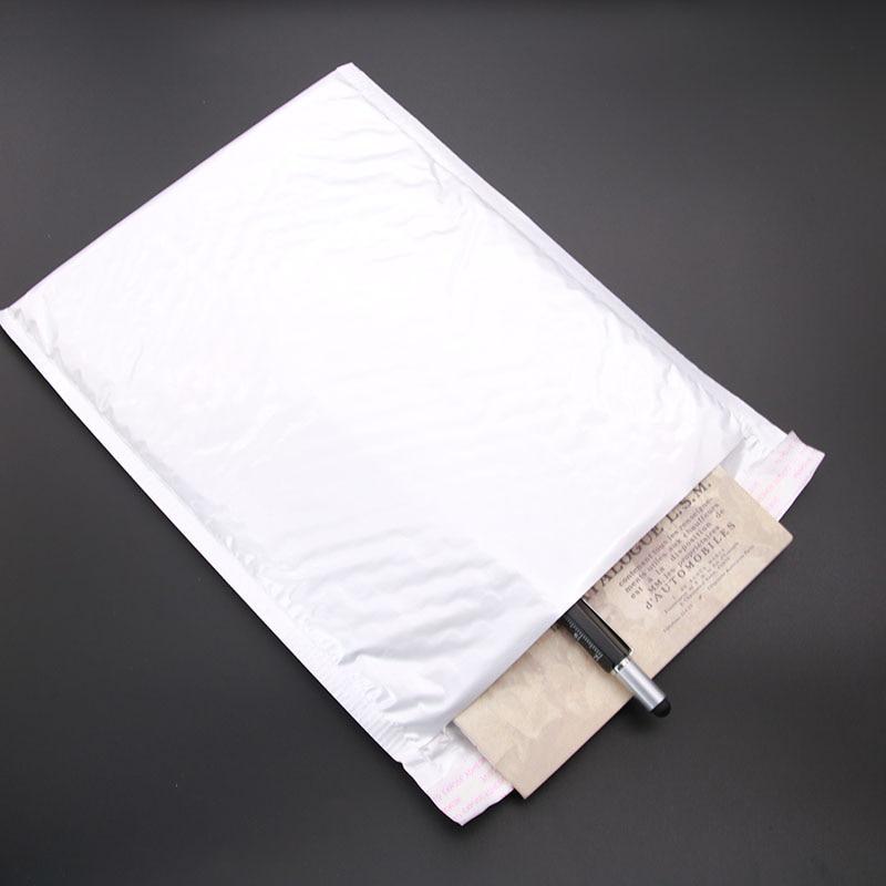 Wholesale! 10pcs (20 * 25cm +3cm) White Paper Envelope Gift Technology Bubble Bag 4
