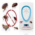 2017 2.5 W EU Plug AC 90 ~ 250 V Branco Ultrasonic Rato Rato Do Inseto Mosquito Roedor Pest Repeller Eletrônico controle