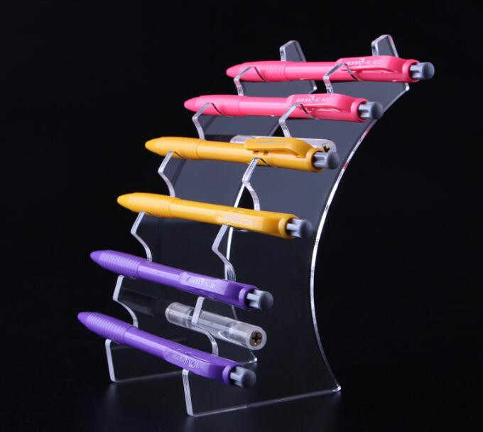 6 Bits Clear acrylic Cosmetic Brush Eyeshadow Pencil Pen Lipstick Display Stand Rack Support Organizer Holder free shipping