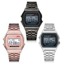 67d08f4b9dbd6 LED Numérique Quartz Montre-Bracelet Robe D or Montres Femmes Hommes Pour  Enfants Horloge
