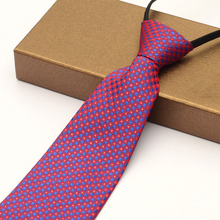 Wide version of 10cm men's business suits tie purple zipper tie