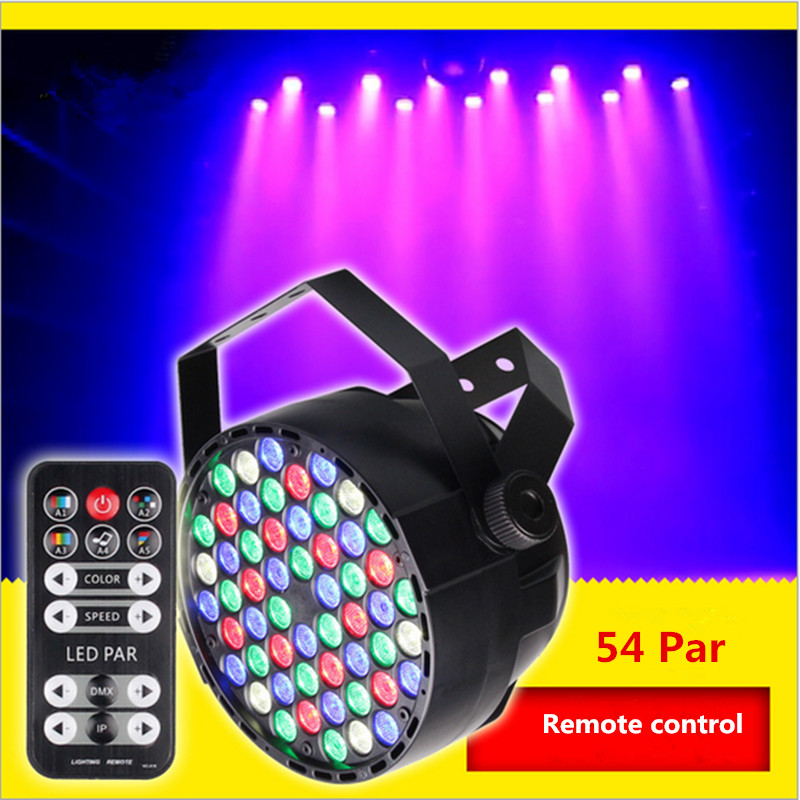 Remote control 54 full color LED par light stage light background lights dyed lights wedding KTV bar lights