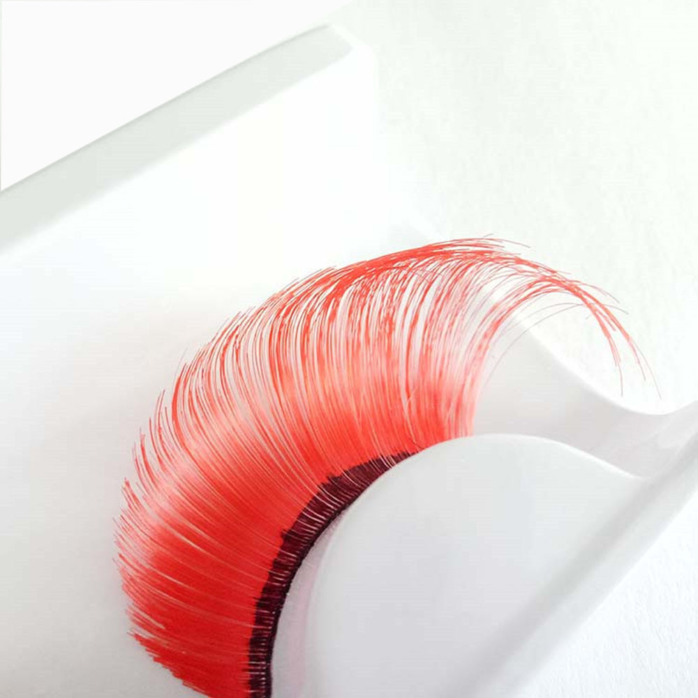 Professional eyelash tools A pair Women s Halloween Party Party Makeup Art Red Wave False Eyelashes Soft Natural Thick Fake