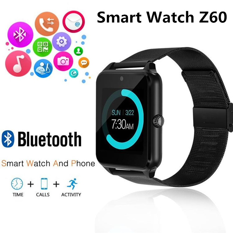 Z60 Smart Watch GT08 Plus Metal Strap Support Camera SIM TF Card Bluetooth Compatible Android&IOS Phone PK Q18 Y1 DZ09 V8 S8 V8