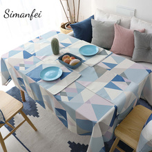 Simanfei Waterproof Europe Style Decorative Table Cloth Cotton Tablecloth Dining Table Cover For Kitchen Home Decor europe style cotton linen table cloth country style solid multifunctional table cloth rectangular table cover home kitchen decor