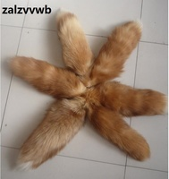 Zalzyywb hoge kwaliteit Crystal vos vos sleutelhangers grote vos staart sleutelhanger zak bont hanger wilde accessoires