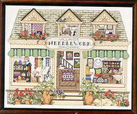 X X FISH Cross Stitch T336scenery Village Needle And Thread Shop Village Town Of Amorous Feelings