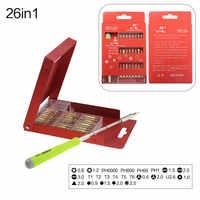 UANME Multi-purpose Cacciavite di Precisione Tool Kit Set di Cacciaviti per il Telefono Cellulare Tablet di Manutenzione di Riparazione Con Cassa In Metallo