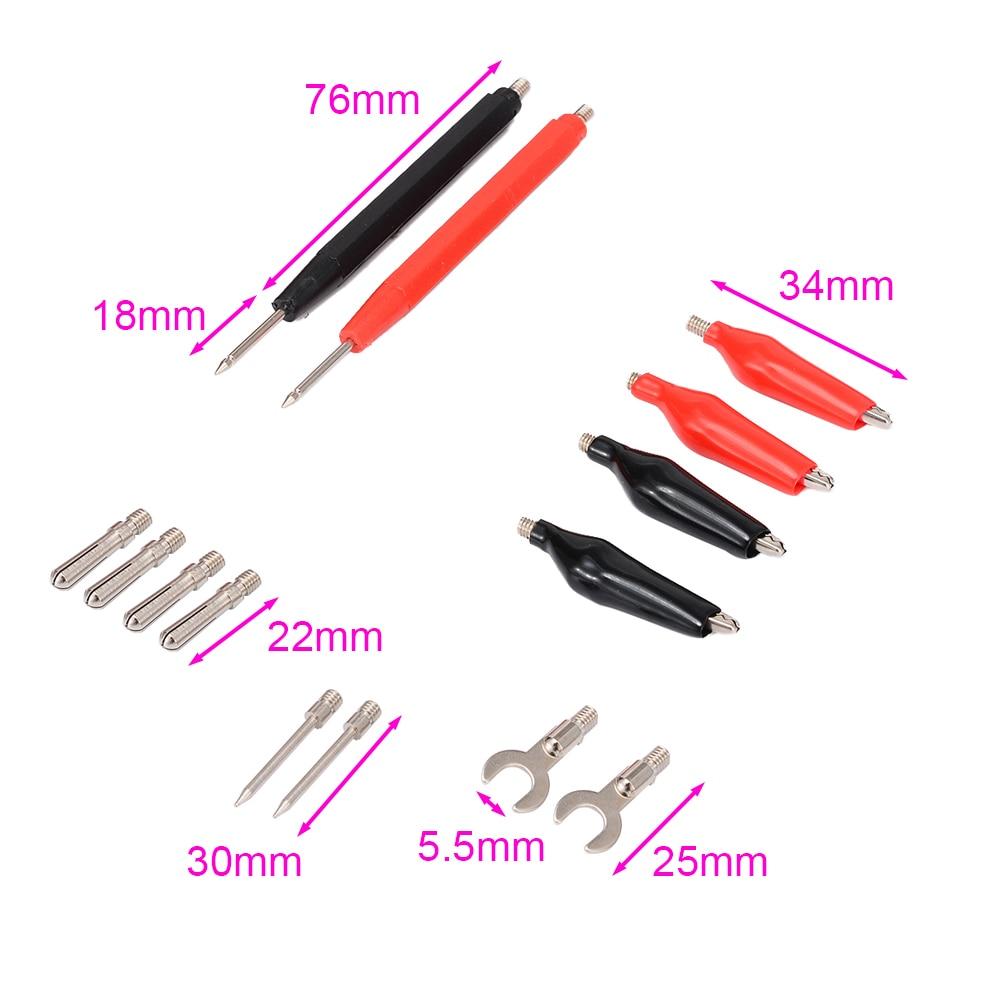 16pcs in 1 set Universal Digital Multimeter Probe 90cm Needle Tip Probe Test Leads Pin Wire Pen Cable Test Line Assortment Kit