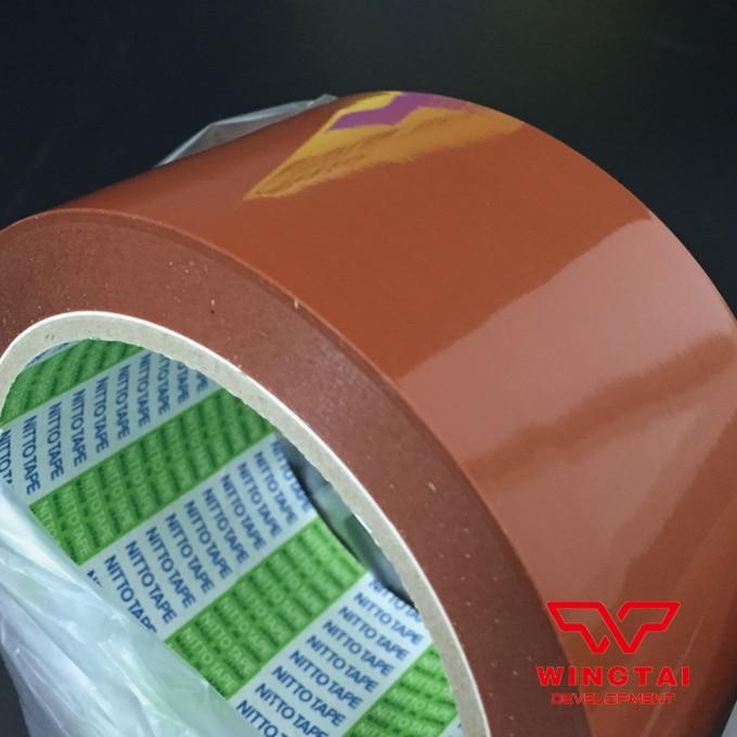 3 Pcs Japan Nitto Denko 923S Orange Heat Sealing NITOFLON Tape T0.10mm*W38mm*L33m t0 10mm w38mm l33m nitto denko heat sealing machine use heat resistant tape 923s
