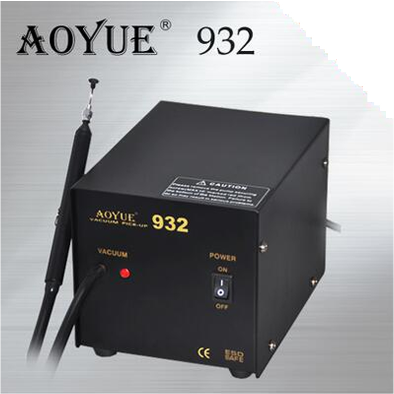 Aoyue 932 solder station Vacuum Pick-Up station soldering station better for small pcb repair aoyue bga soldering station original solder iron handle soldering station handle 220v 6 pin for aoyue 2702a