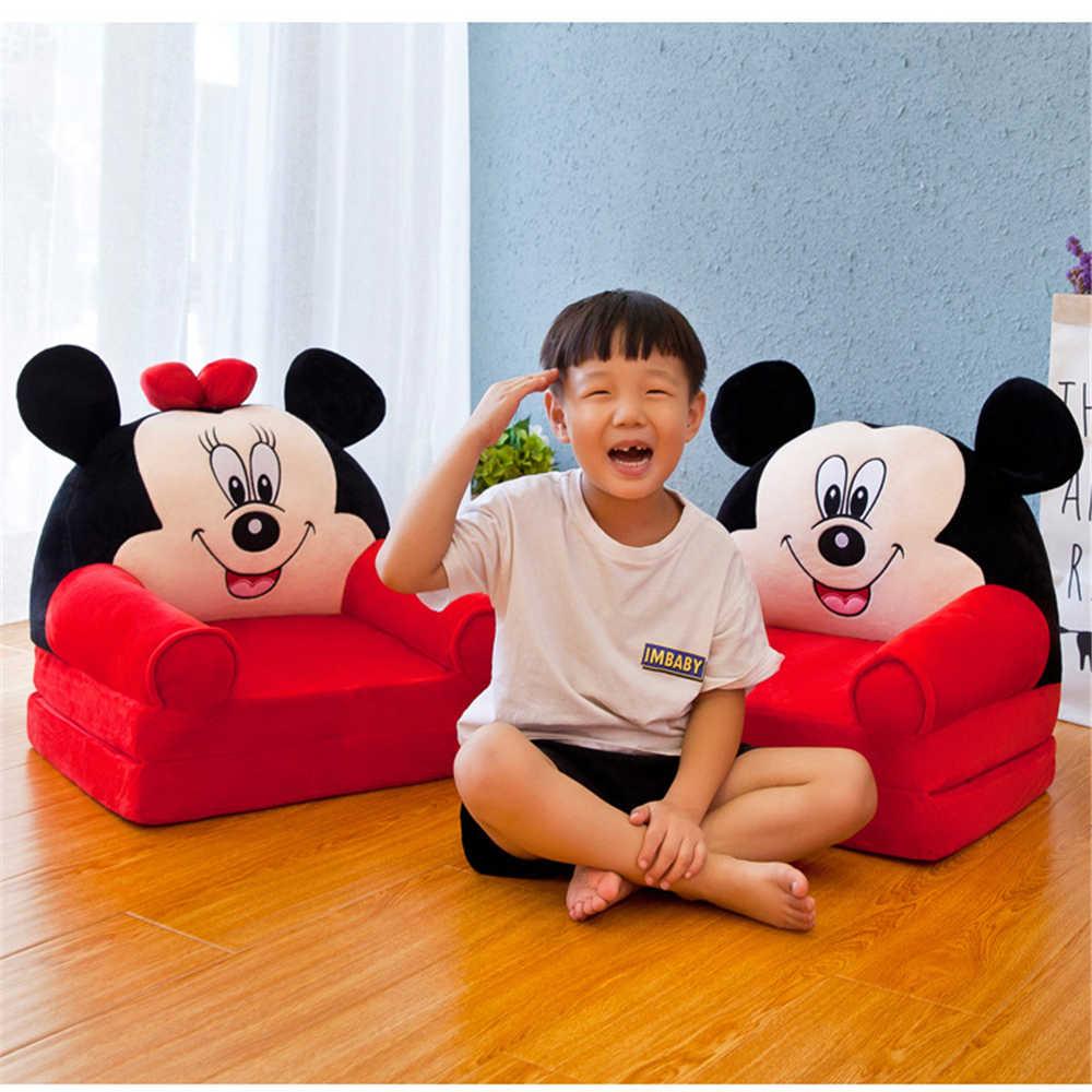 Складной детский диван детский мультяшный Корона принцесса кресло аккуратное слоеная Кожа Дети ленивый спинка плюшевые подушки сиденья