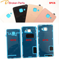 5PCS Back Cover Case Glass with adhesive for Samsung Galaxy A3 2016 A310 A310F A5 A510 A7 A710 Back Glass Case Bag Battery Door