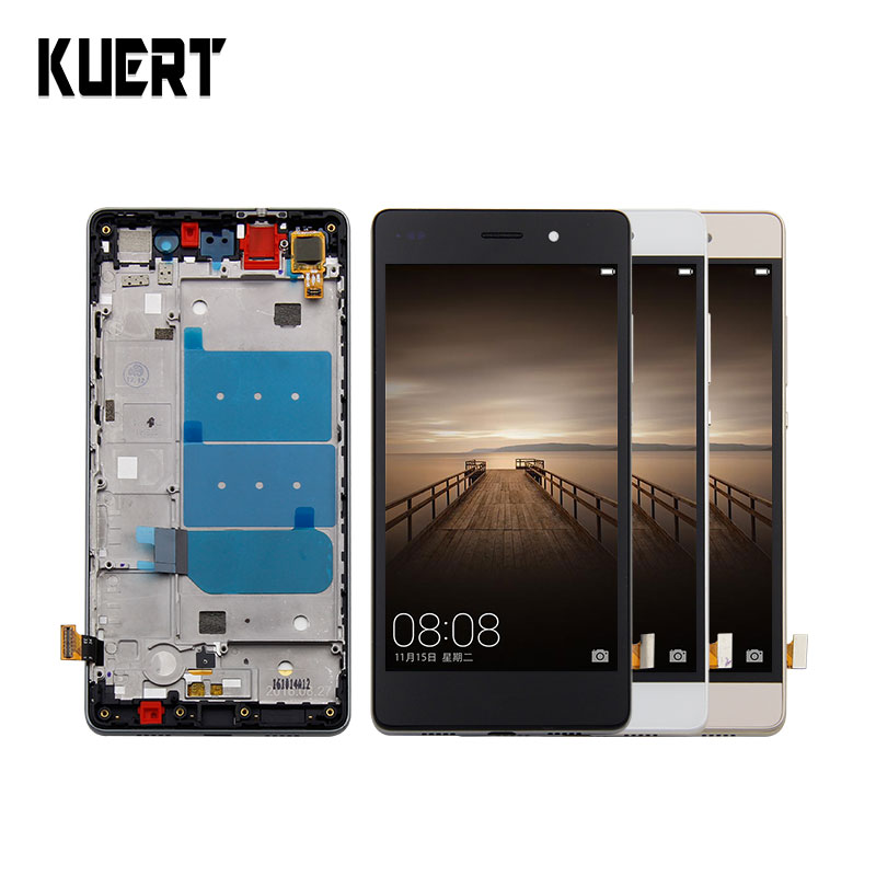 For Huawei P8 Lite LCD Display+Touch Screen 100% new Digitizer Glass Panel Replacement For Huawei Ascend P8 Lite with frame