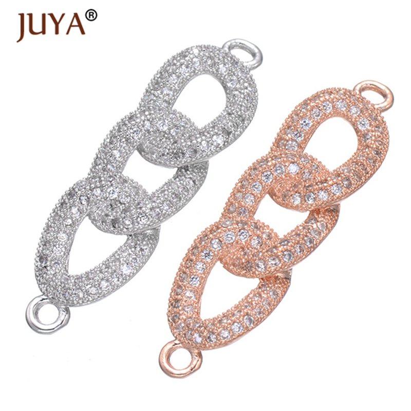 diy fashion bracelets necklace earrings jewellery accessories findings luxury CZ Crystal charms connectors for jewelry making