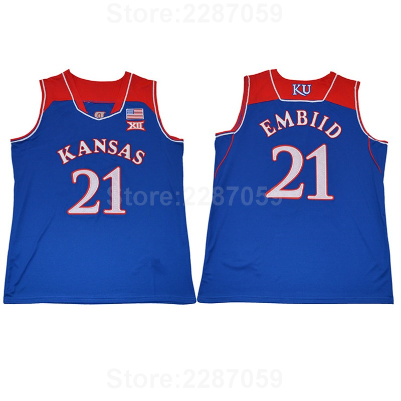 c4786ab81 ... association edition jersey 21 nike white mens home nike 1c68f 4d883   sale ediwallen men 21 joel embiid jersey college kansas jayhawks basketball  jerseys ...