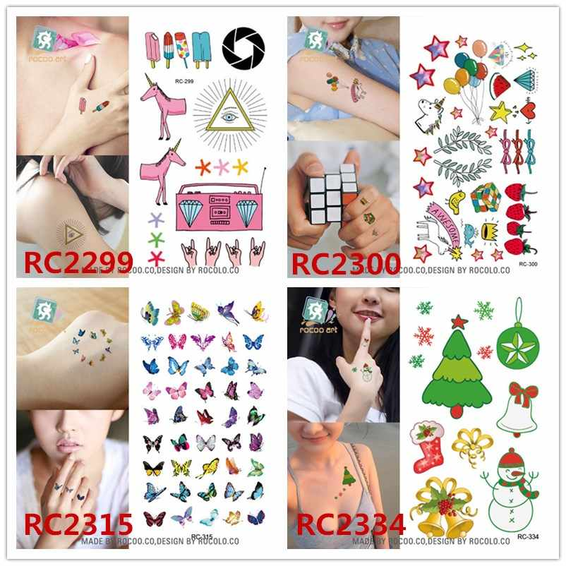 Christmas Tree Tattoo Small.Body Art Waterproof Temporary Tattoos For Men And Women 3d Christmas Trees Design Small Arm Tattoo Sticker Wholesales Rc2334