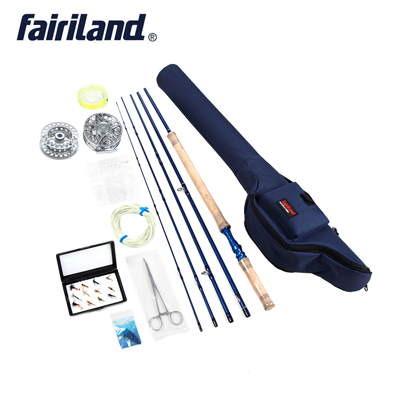 Fly Fishing Set 6/7, 7/8, 8/9  Carbon Fishing Rod , 100mm Aluminum Fishing Reel, Fly Fishing Accessories With Rod Case Bag(China)