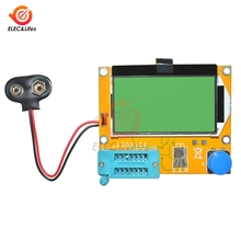 LCR-T4 ESR Meter Mega328 Digital Transistor Tester Diode Triode Capacitance MOS/PNP/NPN LCR 12864 LCD Screen Tester