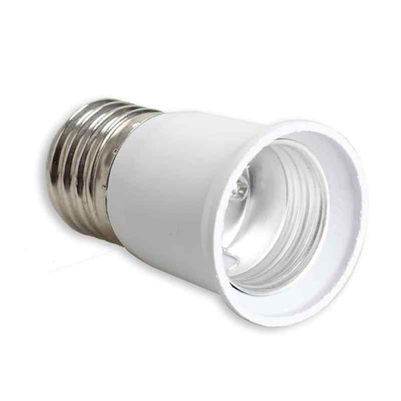 E27 a E27 Extension Socket Base CLF LED Bombilla lámpara adaptador Socket Converter