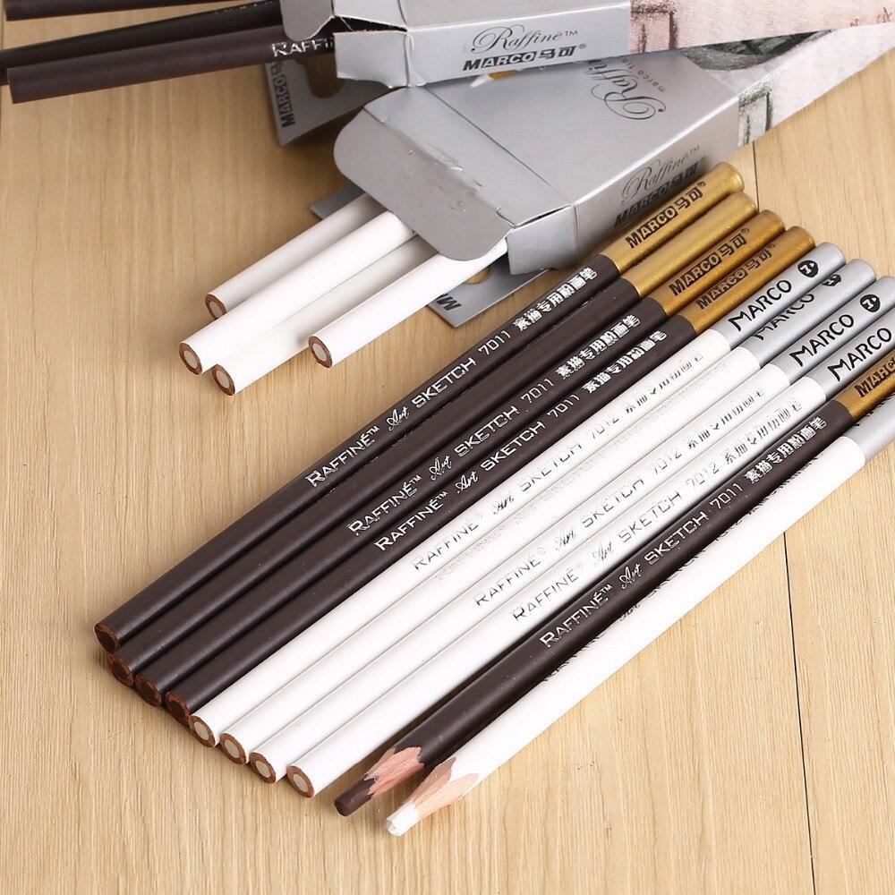12 Pz Professionale Tavolo Da Disegno In Legno Schizzo A Matita Pastello Matite Colorate Penna Carbone Per Disegno Studente Forniture Schizzo D'arte