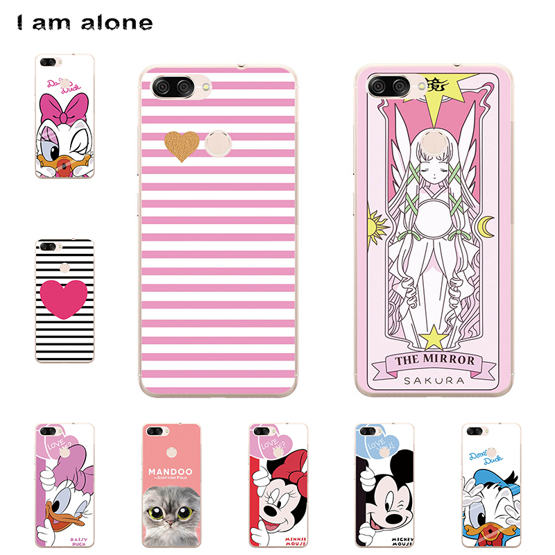 I am alone Phone Cover For Asus Zenfone Max Plus (M1) ZB570TL 5.7 inch Solf TPU Cellphone Fashion Cute Case For Asus ZB570TL