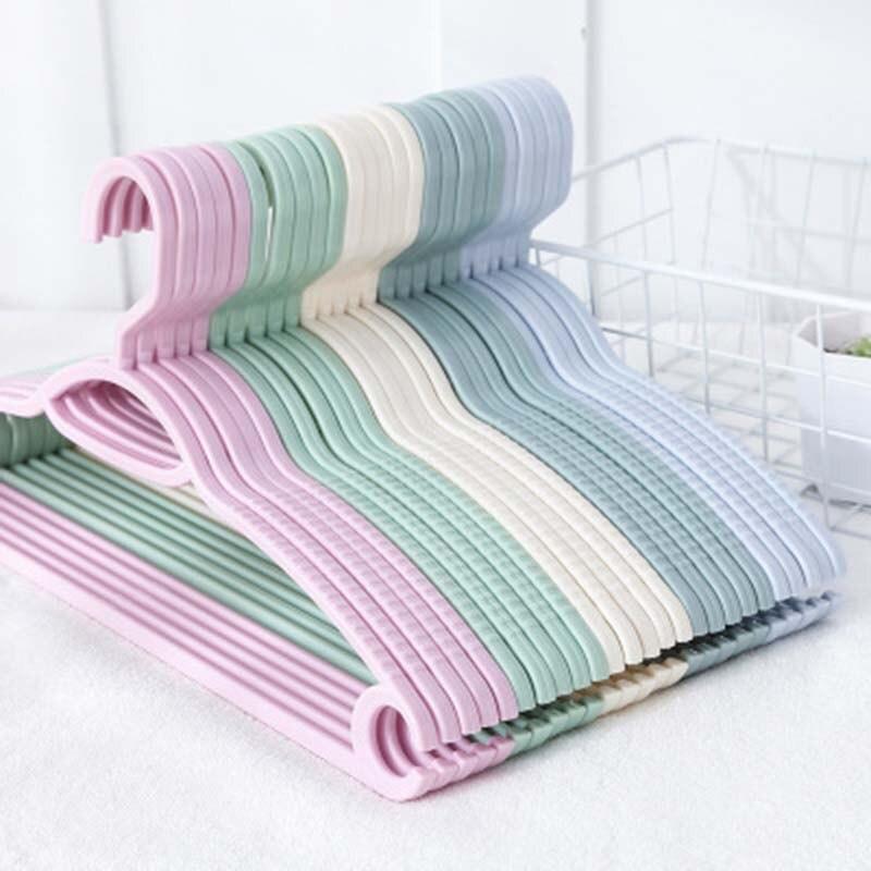พลาสติกที่มีสีสันแขวนสำหรับเสื้อผ้าหมุดลวด Antiskid แห้งเสื้อผ้า Rack ผู้ใหญ่เด็กแขวนกลางแจ้งอบแ...
