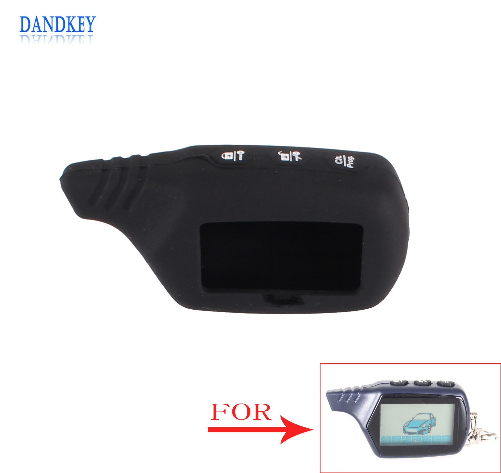 Dandkey Key Cover For B9/B6 LCD Silicone Case For Starline B9/B91/B6/B61/A91/A61/V7 LCD Keychain Car Remote 2 Way Alarm(China)