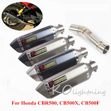 CBR500 CB500X CB500F Motorcycle Exhaust Muffler Pipe Slip On Mid Link For Honda